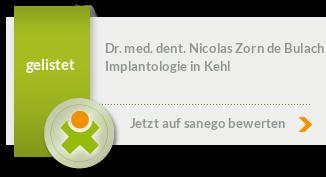 Siegel von Dr. med. dent. Nicolas Zorn de Bulach
