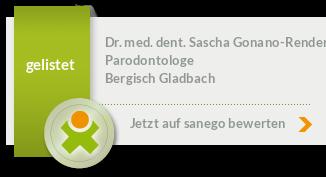 Siegel von Dr. med. dent. Sascha Gonano-Render