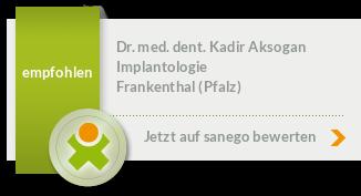 Dr. med. dent. Kadir Aksogan, von sanego empfohlen