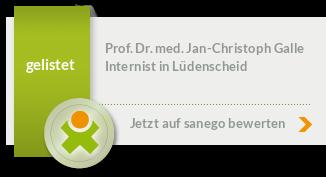 Siegel von Prof. Dr. med. Jan-Christoph Galle