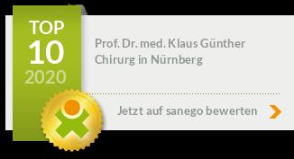 Siegel von Prof. Dr. med. Klaus Günther