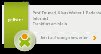 Siegel von Prof. Dr. med. Klaus Walter J. Badenhoop