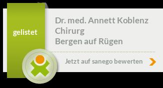 Siegel von Dr. med. Annett Koblenz