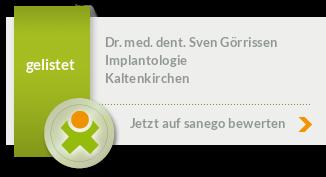 Siegel von Dr. med. dent. Sven Görrissen