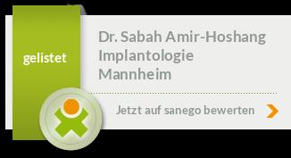 Siegel von Dr. med. dent. Sabah Amir-Hoshang M.Sc., M.Sc.
