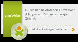 Siegel von Dr. rer. nat. Maria Knoll-Hüttemann