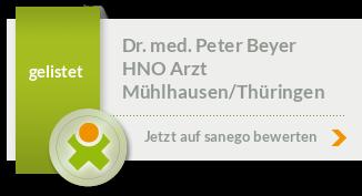 Dr. med. Peter Beyer in 99974 Mühlhausen/Thüringen ...