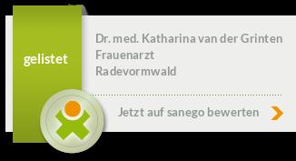 Siegel von Dr. med. Katharina van der Grinten
