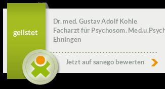 Siegel von Dr. med. Gustav Adolf Kohle