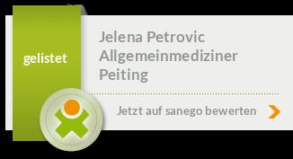 Siegel von Dr. med. (univ. Belgrad) Jelena Petrovic