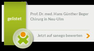 Siegel von Prof. Dr. med. Hans Günther Beger