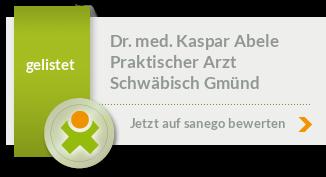 Siegel von Dr. med. Kaspar Abele