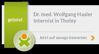 Siegel von Dr. med. Wolfgang Hasler