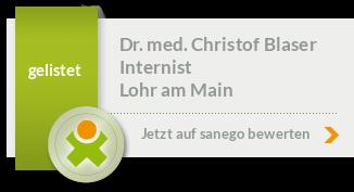 Siegel von Dr. med. Christof Blaser