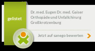 Siegel von Dr. med. Eugen Dr. med. Gaiser