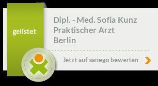 Siegel von Dipl. - Med. Sofia Alincic-Kunz