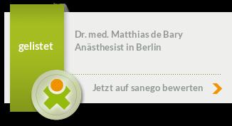Siegel von Dr. med. Matthias de Bary