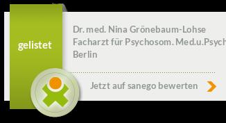 Siegel von Dr. med. Nina Grönebaum-Lohse