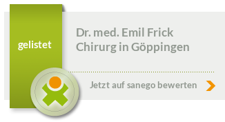 Siegel von Dr. med. Emil Frick