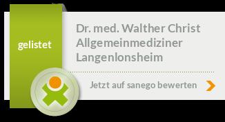 Siegel von Dr. med. Walther Christ