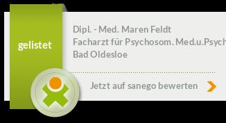 Siegel von Dipl. - Med. Maren Feldt