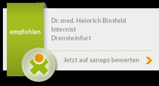 Siegel von Dr. med. Heinrich Binsfeld