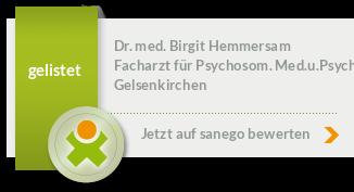 Siegel von Dr. med. Birgit Hemmersam