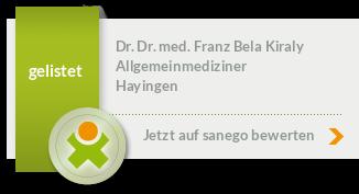 Siegel von Dr. Dr. med. Franz Bela Kiraly