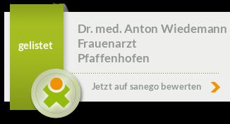 Siegel von Dr. med. Anton Wiedemann