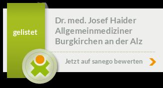 Siegel von Dr. med. Josef Haider