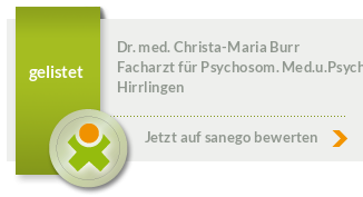 Siegel von Dr. med. Christa-Maria Burr