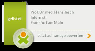 Siegel von Prof. Dr. med. Hans Tesch