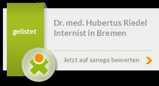 Siegel von Dr. med. Hubertus Riedel