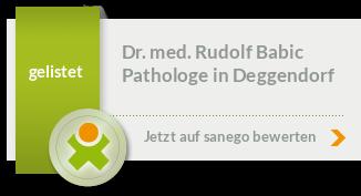 Siegel von Dr. med. Rudolf Babic